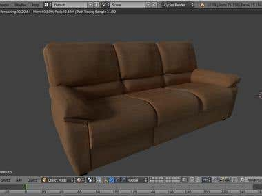 3D Design Of Sofa