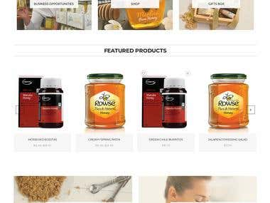 Honey Product Website Design