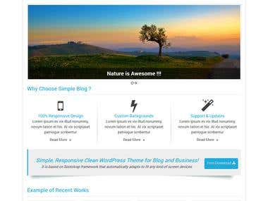 Multi Purpose WordPress Theme Template
