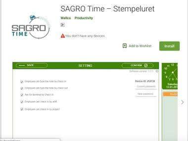 SAGRO Time – Stempeluret