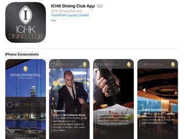 ICHK Dining Club App