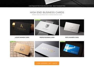 Business Card Website (Laravel)