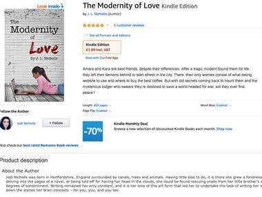 Amazon listing: The Modernity of Love