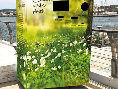 Diseño exterior máquina reciclado