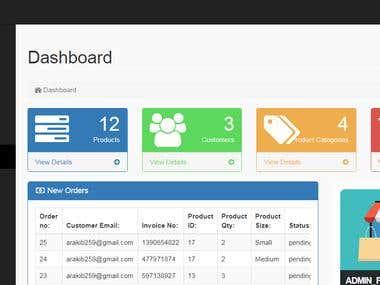 Dashboard(Admin Panel)