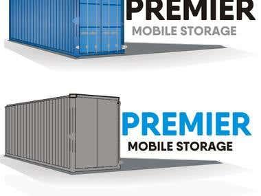 logo for premium mobile storage