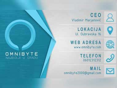 Omnibyte Business Card Design