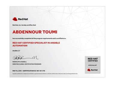 Red Hat Certified in Ansible Automation