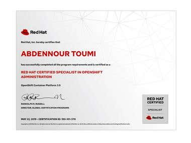 Red Hat Certified Specialist in Openshift Administration