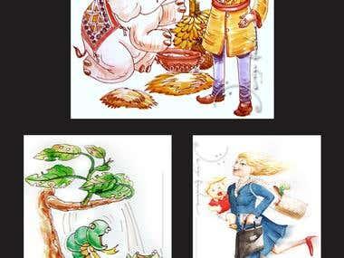 Water color Illustration for Children's Book