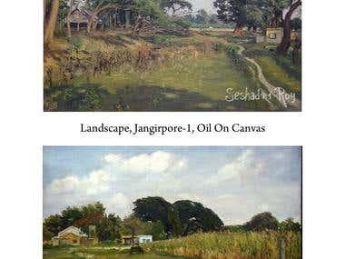 Landscape painting ( Oil Paint)
