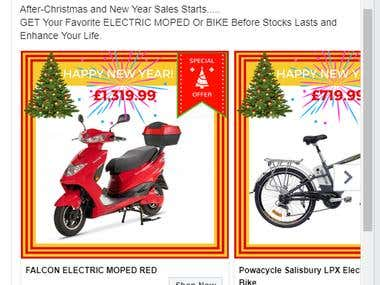 Facebook Ads Design For electricbikescootercar.co.uk