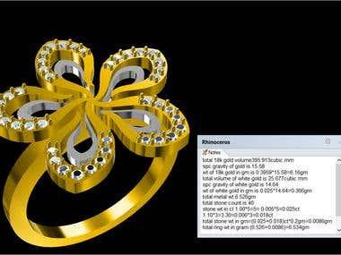 Flower like ring