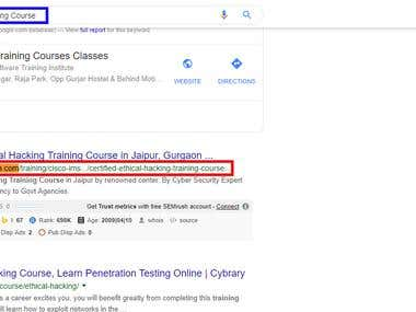 """For keyword:- """"Ethical Training Course"""""""