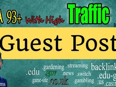 I Will Create Guest Post On High Quality Website Da 93 Plus