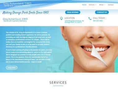 General and Cosmetic Dentistry Website Design