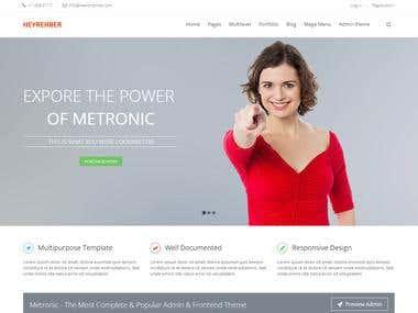 Codeigniter and Metronic development.