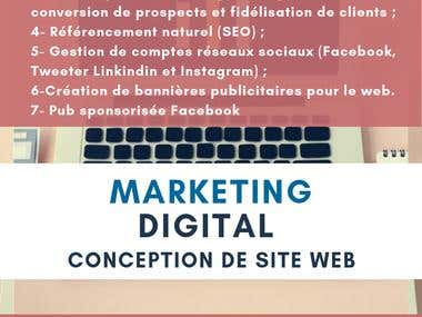 Conception de site web et marketing digital
