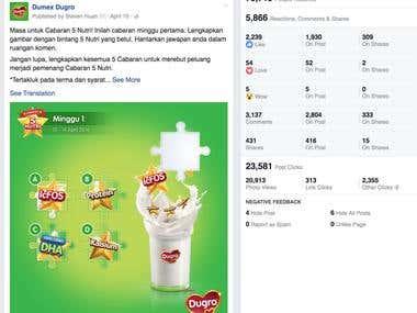 Social Media Strategy & Data Analytics - Facebook