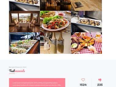 Responsive restaurant website template.