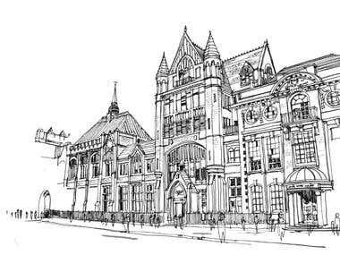 Custom house/building sketches
