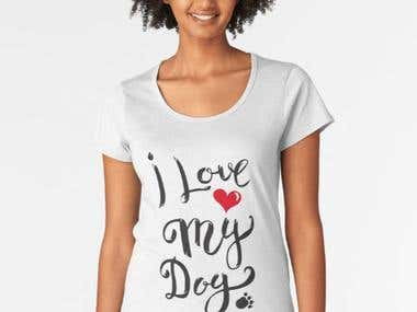 T shirts & print on Damon designs for dogs lovers