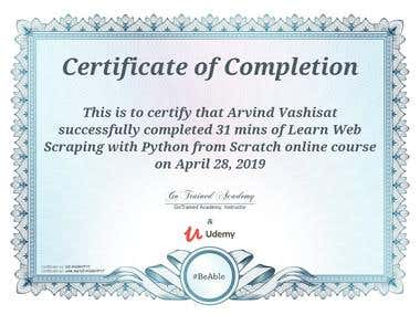 Python Scrapping Certificate
