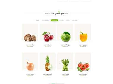 eCommerce for Vegetable store