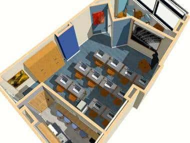A unique office / classroom