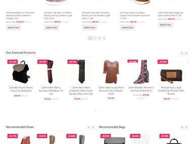 Magneto Based E-Commerce Website