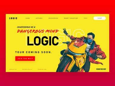 Website Concept for Logic (Music Artist)