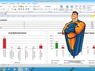 Multiple charts in excel