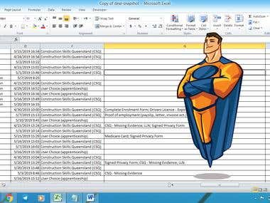 Convert excel file to dynamic google sheet