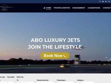 Company website for private aviation AboLuxuryJets