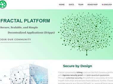 WordPress website for blockchain company Fractal