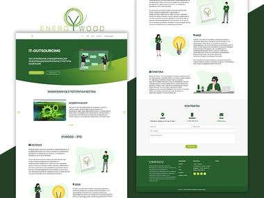 EnWood - IT Outsourcing Company Landing Page