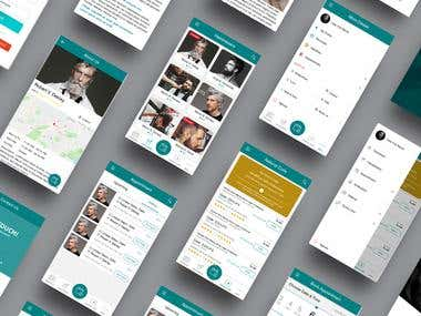 Unisex Salon App UI