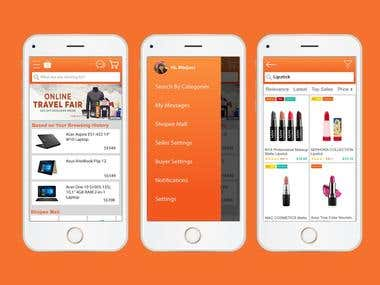 Mobile UI/UX designs