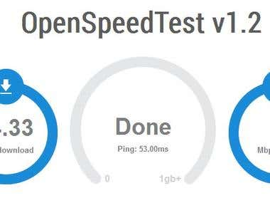 Javascripting programming for a internet speed test website