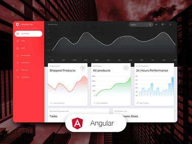 Angular Dashboard Development