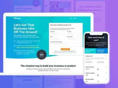 Web and App UI for Freelancer.com