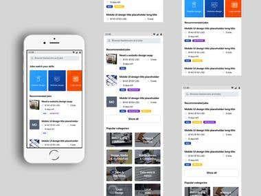 Freelancer.com Mobile UI