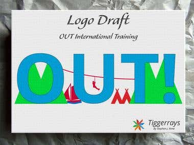 OUT Logo Design