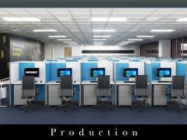 Call Center Production Area