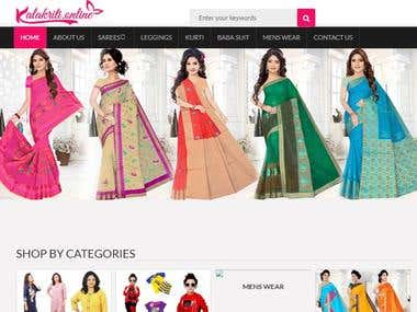 Online store for ladies garments
