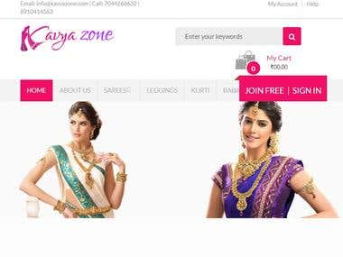 Online Store for Ladies Garment