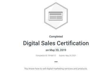 Digital Sales Certification (Google Adwords)