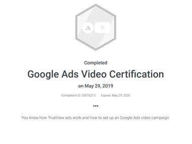 Google Ads Video Certification
