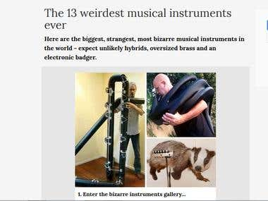 Weird musical Instruments