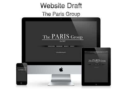 The PARIS Group Website Design